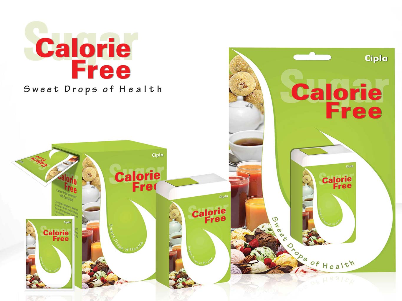 All CalorieFree green