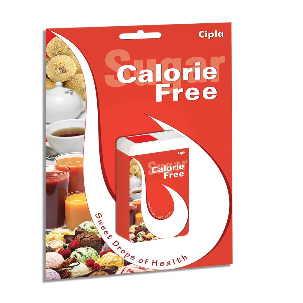 Calorie Free- Dispenser Card Red