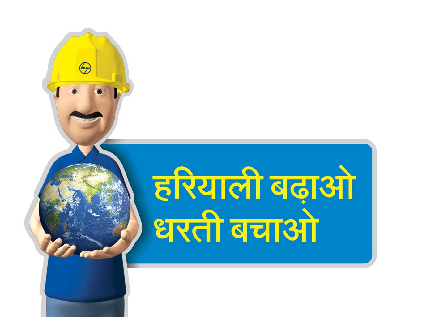 Larsen & Toubro, Pithampur- Venue branding, safety awareness campaign, 3D Character Development