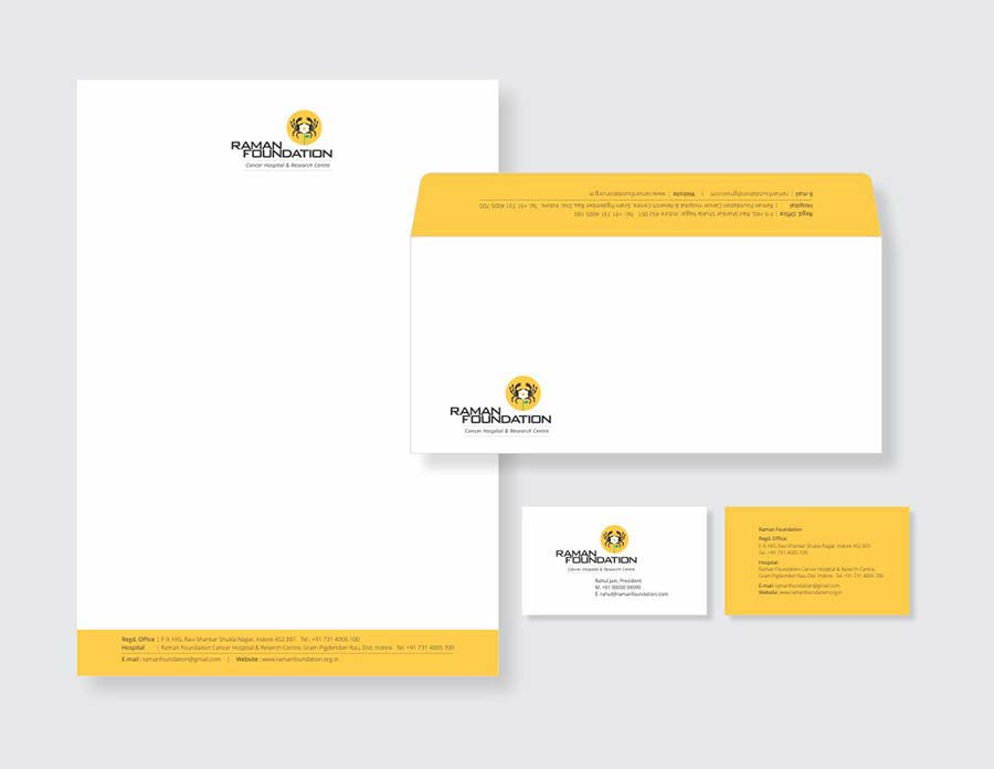 Raman Foundation- cancer hospital and research cenre stationery