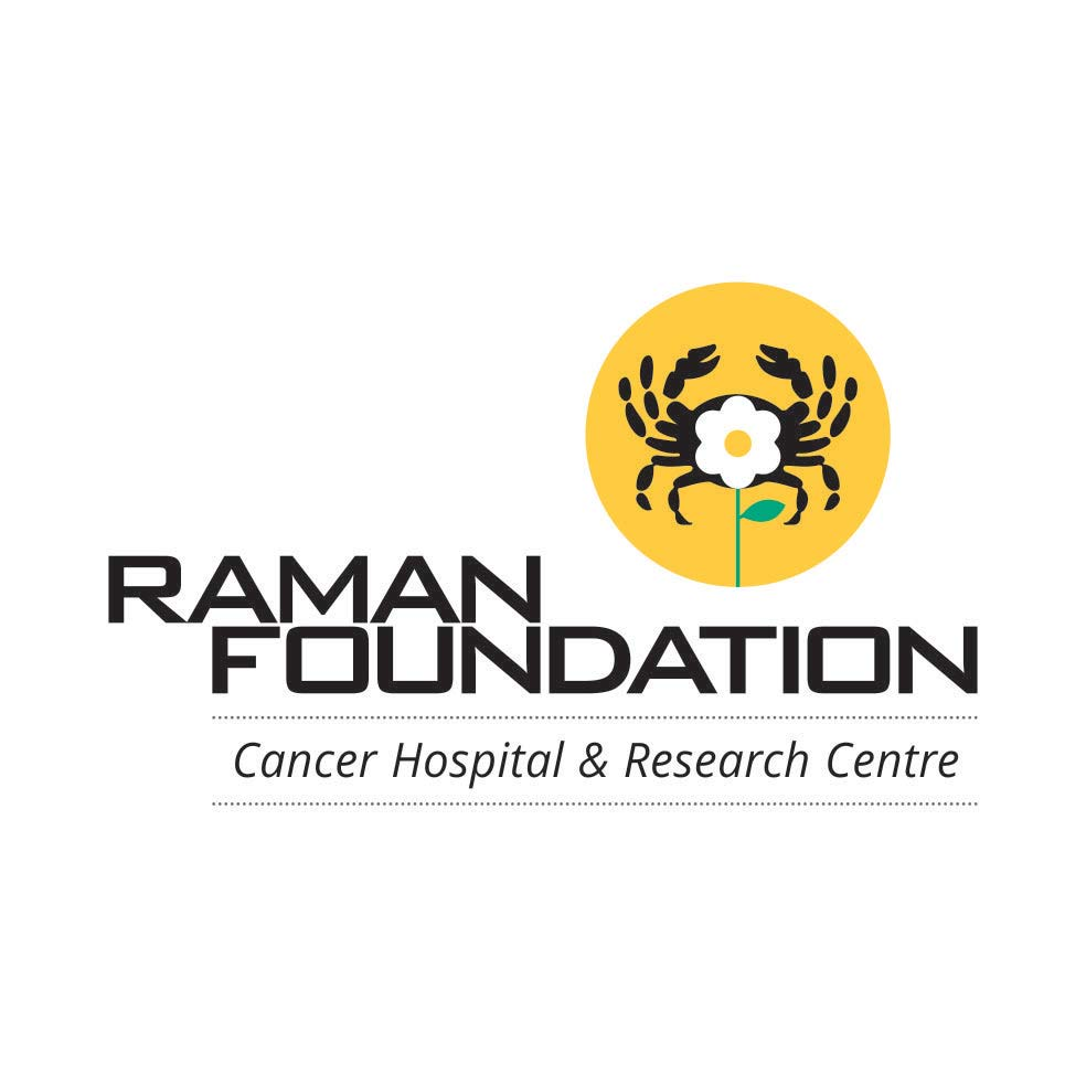 Raman Foundation- cancer hospital and research cenre logo