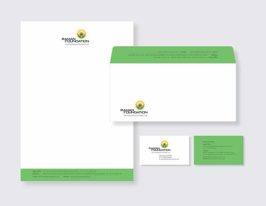 Raman Foundation- rural development charitable trust stationery