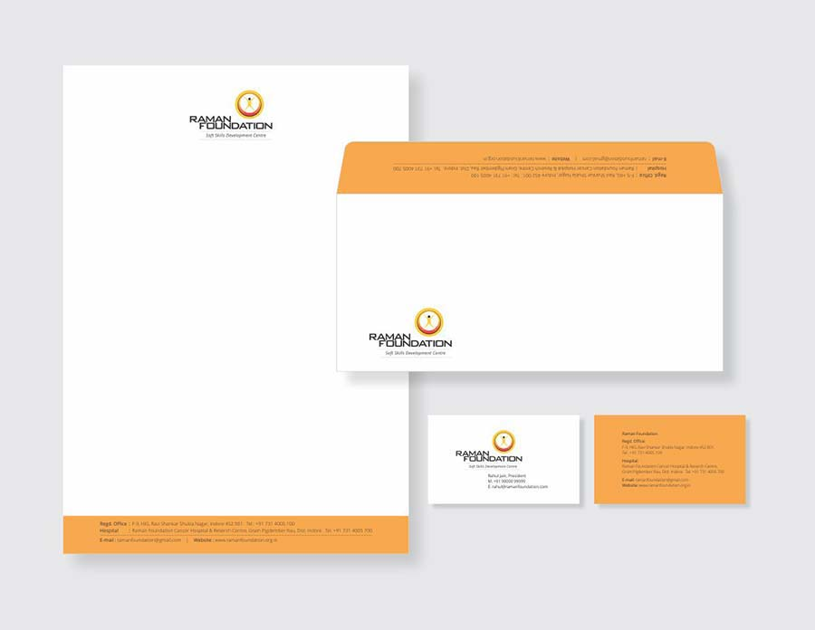 Raman Foundation- soft skills development centre stationery