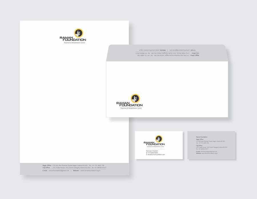 Raman Foundation treatment and rehabilitation centre stationery